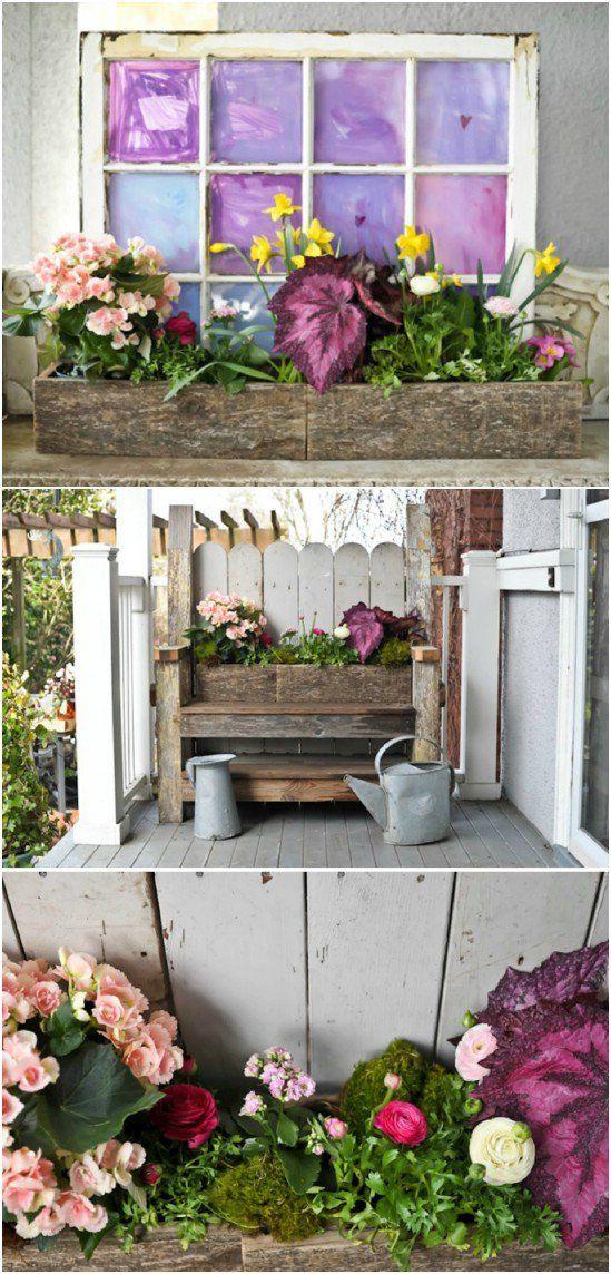 15 Beautiful Diy Window Planter Box Ideas For This Spring Window Box Flowers Wood Window Boxes Window Boxes Diy