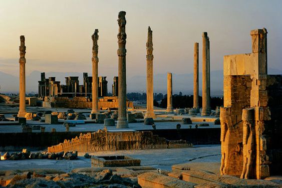 Alexander burned it down in ~300BC. It's still magnificent. Percepolis.