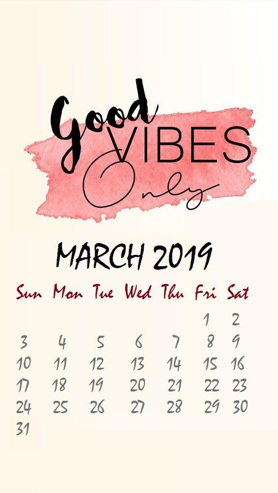 Iphone March 2019 Wallpaper In 2019 Calendar Wallpaper