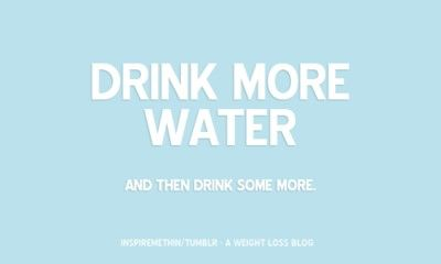 I don't drink as much water as I'm supposed to!