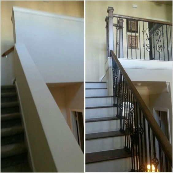 Before And After. Opening Up Staircase