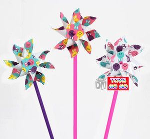 6 x EASTER Rabbit Windmill Toy,Kid,Party Favor Supply Decorations Bag,WIN001