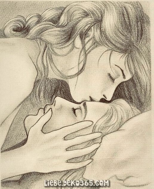 In A Wedge Shaped Piece Of The Heart Cute Couple Drawings
