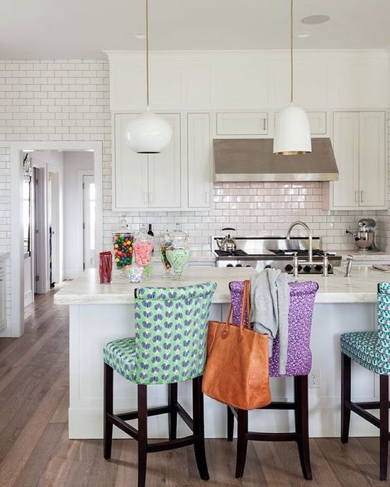 """#TBT to this beautiful kitchen designed by @the_novogratz. Still an all time favorite!!"""