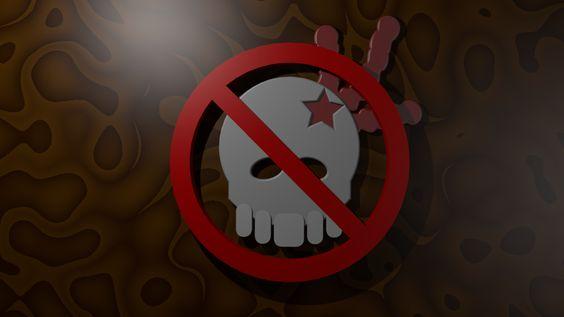 Variante 3D del emblema contra la violencia.