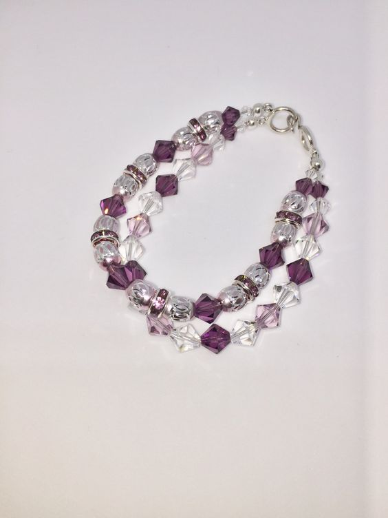 Two Strand Necklace made with Swarovski Crystal by DebsCraftCottage on Etsy