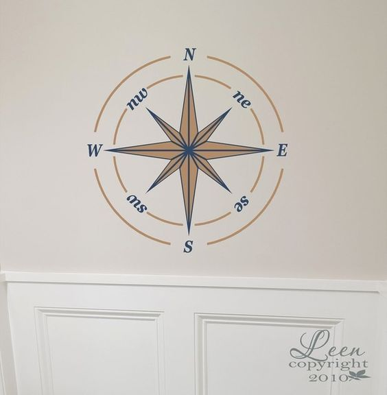 Nautical Compass Rose Wall Decal. Do I want to order this for the nursery?: Compass Decals, Baby Ideas, Baby Kid Ideas, Nautical Compass, Baby Boy, Vinyl Wall Decals, Compass Rose, Vinyl Decals, Rose Decal