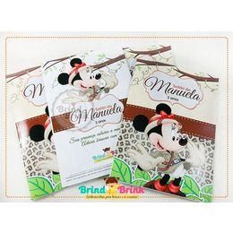 Lembrancinha Minnie Safári - Revista para Colorir - www.brindbrink.com