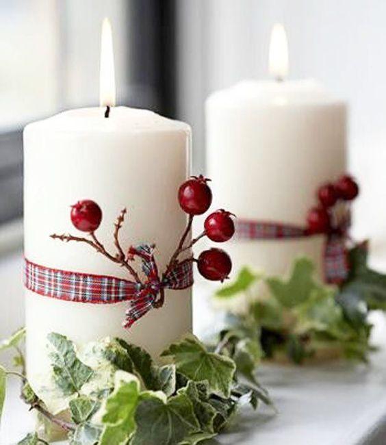 Confira as ideias que selecionamos para você se inspirar e decorar a sua mesa de Natal com velas