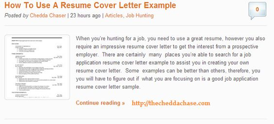 How To Use Resume Cover Letter Sample The Chedda Chase - law student sample resume