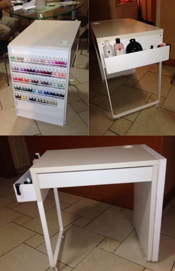 Manicure gc nails pinterest mesas manicures and for Nail salon table
