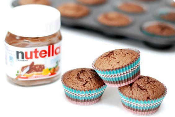 Magdalenas de Nutella, deliciosas y Sin gluten