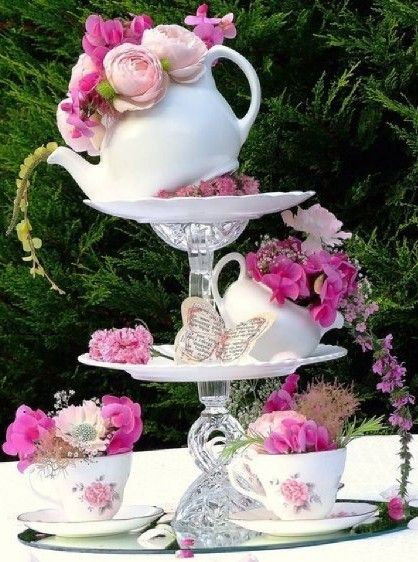 Love This Tea Pot China Crystal Art Tiered Serving Tray In 2020 With Images Outdoor Tea Parties Tea Party Decorations Adult Tea Party