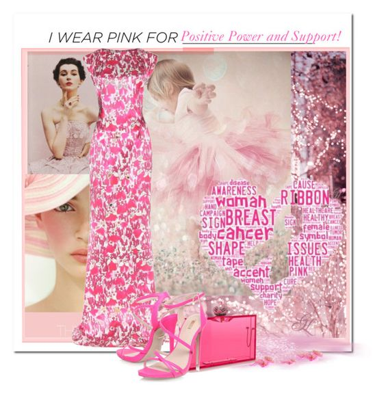 """Positive Pink Power"" by loveroses123 ❤ liked on Polyvore featuring Mary Katrantzou, Charlotte Olympia and Carvela"