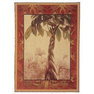 Tapestry woven jacquard Le ficus. tapisserie jacquard made in france