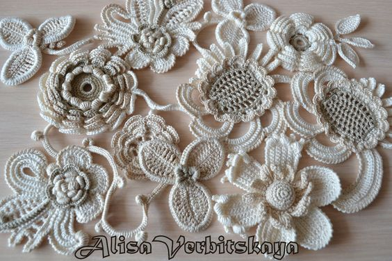 Free Vintage Irish Crochet Patterns : Irish crochet motif Samples of Irish lace Pinterest ...