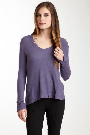Thermal Torqued Tee - Amethyst by Chaser