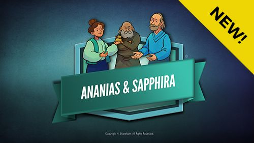 Acts 5 Ananias and Sapphira Kids Bible Lesson: The sad story of Ananias and Sapphira (Acts 5). The book of Acts tells us the early church grew in unity and love selling possessions and freely sharing with one another. But a married couple named Ananias & Sappira lied to the church and the Holy Spirit about land they had sold. Defending the holiness of his Church God took lives of both Ananias and Sapphira.