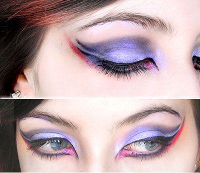 dove shaped: Halloween Costume, Halloween Eye, Cat Eye, Beauty Ideas, Dramatic Eye, Makeup Eye, Eye Shadow Ideas, Makeup Idea, Purple Eye