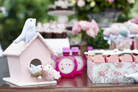 little bird themed birthday party. perfect for twin girls!