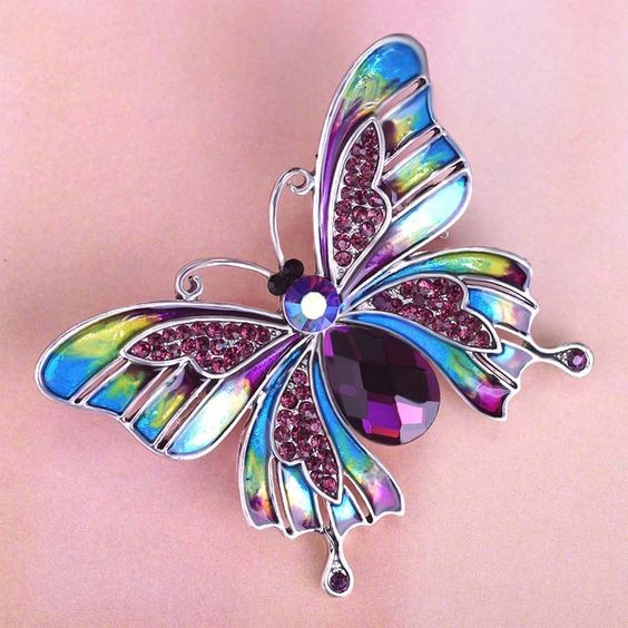 Beautiful Esmalte Butterfly Broch Only $15.99 => Save up to 60% and Free Shipping => Order Now! #Ring #Jewelry #woman #fashion: