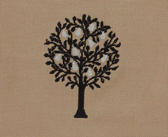 pepita Pear Needlepoint Canvas