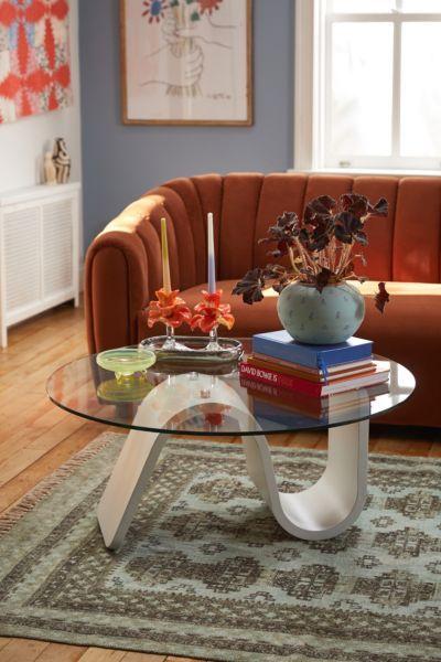 Bettie Glass Coffee Table