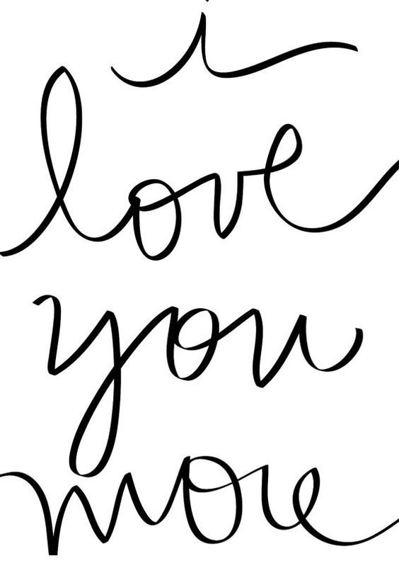 Printable Valentine - DIY - Handwritten Valentine's Day Card - Instant Download - I love you more- Digital File by DESIGNXFIVE, $2.55