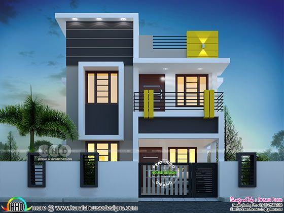 3 Bedroom 1400 Sq Ft Cute Budget Home Design Small House Front Design Small House Design Exterior Duplex House Design