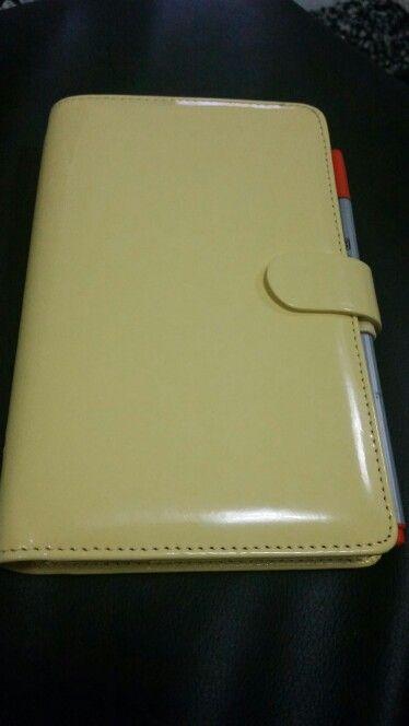 My Personal Filofax : Yellow/ Patent
