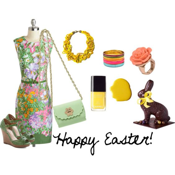 """Happy Easter!"" by vaninadocemood on Polyvore"