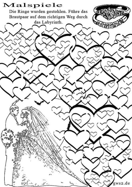 Labyrinth Trauringe (Malspiel)
