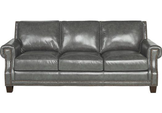 Vicenza Charcoal Leather Sofa. $1,099.99. 88W x 40D x 37H. Find affordable Leather Sofas for your home that will complement the rest of your furniture.