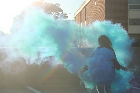 I was messing with smoke grenades and took this picture. This is completely unedited