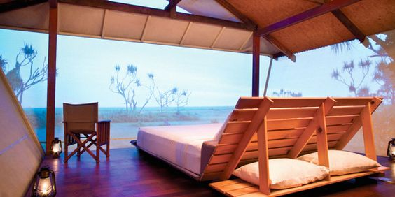 Bamurru Plains near Kakadu, Northern Territory, Australia: eco-bungalows with African-safari style.