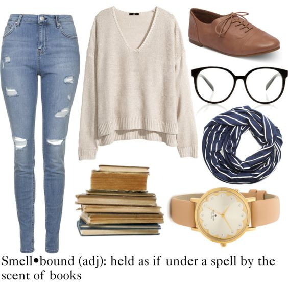 Smell•bound: held as if under a spell by the scent of books by hopelessly-wandering on Polyvore featuring polyvore, fashion, style, H&M, Topshop, Kate Spade, SUMMERSKIN and bookstyle