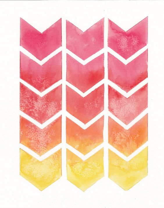 Chevron patterns, Chevron and Orange