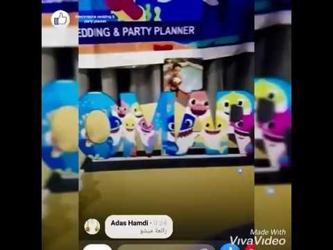 Baby Shark Unicorn Birthday ديكور عيد ميلاد بثيم بيبى شارك ويونى كورن Youtube Balloon Decorations Party Planner Party