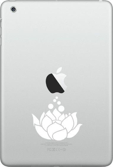 "IPAD-M - Lotus Flower D2 - iPAD MINI Vinyl Decal - ©YYDC (2.25""w x 2""h) (Color Choices)"