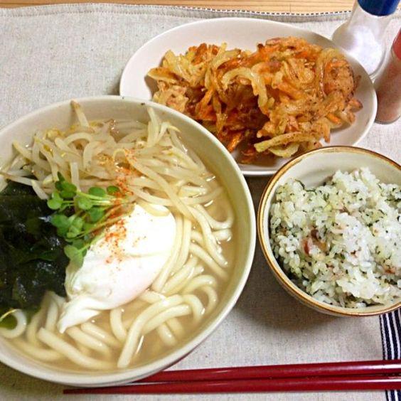 かき揚げのサツマイモが美味しかったー♡ - 4件のもぐもぐ - うどん・かき揚げ・かやくご飯 by YUPPY