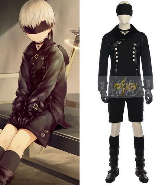 NieR Automata YoRHa No 9 Type S Cosplay Kostüm Schwarz Outfit Costume 9S