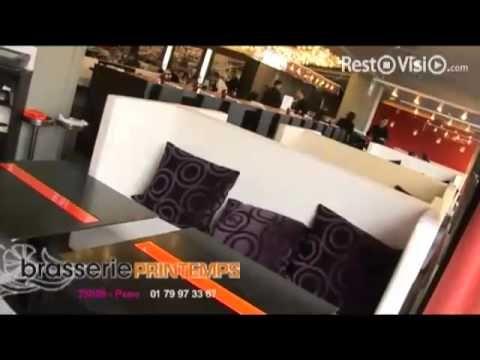 Restaurant Brasserie Printemps en vidéo.