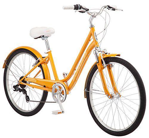 Schwinn Suburban Women S Comfort Bike 26 Wheels 16 Small Frame Size Orange Comfort Bike Hybrid Bike Schwinn