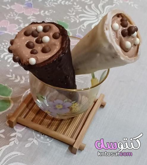 طريقة عمل بسكويت الايس كريم باسكن روبنز Desserts Pudding Food