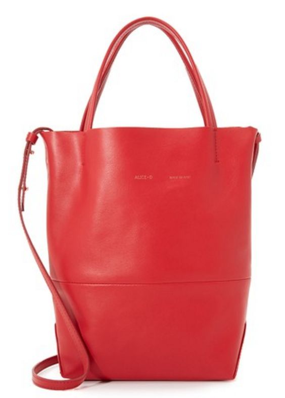Red Crossbody Tote
