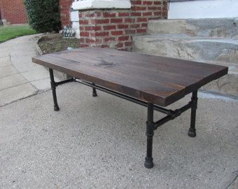 Industrial reclaimed wood coffee table rustic by PicturesqueWoodCo