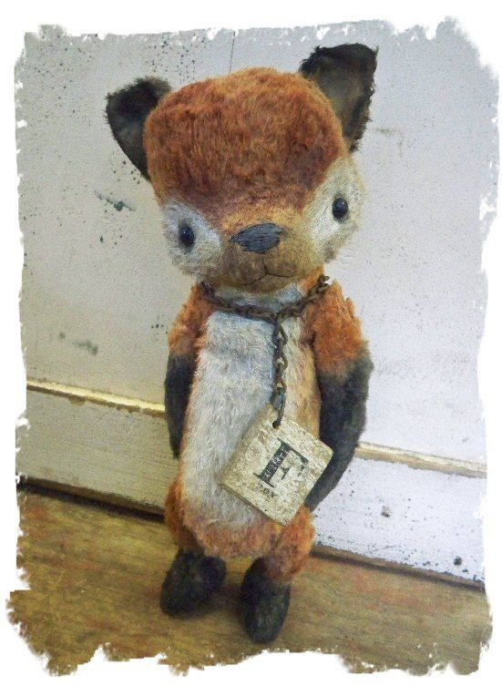 Love love love this vintage inspired fox from whendis bears