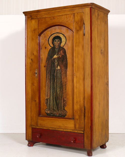 Old Cupboard, 1700, Religious This May Be Purchased Email To : Mailto:info