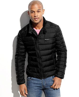 Medium Kenneth Cole Coat, Asymmetrical Down Puffer Jacket - Coats ...