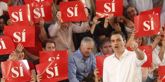 """Sánchez: """"La diferencia entre Iglesias y yo? Yo sí que soy de izquierdas?"""" https://t.co/P2frMpbV5X #ES"""